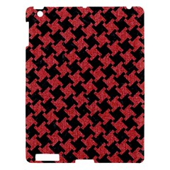Houndstooth2 Black Marble & Red Denim Apple Ipad 3/4 Hardshell Case by trendistuff