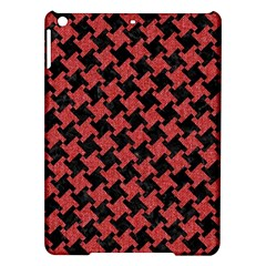 Houndstooth2 Black Marble & Red Denim Ipad Air Hardshell Cases by trendistuff