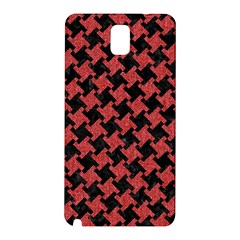 Houndstooth2 Black Marble & Red Denim Samsung Galaxy Note 3 N9005 Hardshell Back Case by trendistuff