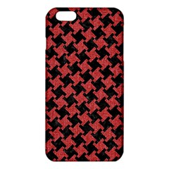 Houndstooth2 Black Marble & Red Denim Iphone 6 Plus/6s Plus Tpu Case by trendistuff