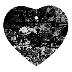 Graffiti Heart Ornament (two Sides) by ValentinaDesign