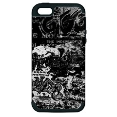 Graffiti Apple Iphone 5 Hardshell Case (pc+silicone) by ValentinaDesign
