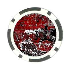 Graffiti Poker Chip Card Guard (10 Pack) by ValentinaDesign