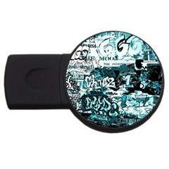 Graffiti Usb Flash Drive Round (4 Gb)