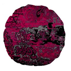Graffiti Large 18  Premium Flano Round Cushions by ValentinaDesign