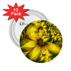 Beautiful Yellow Green Meadow Of Daffodil Flowers 2 25  Buttons (10 Pack)