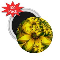 Beautiful Yellow Green Meadow Of Daffodil Flowers 2 25  Magnets (100 Pack)  by jayaprime