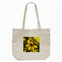 Beautiful Yellow Green Meadow Of Daffodil Flowers Tote Bag (cream) by jayaprime
