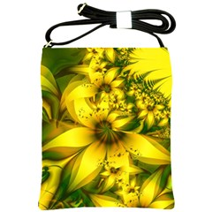 Beautiful Yellow Green Meadow Of Daffodil Flowers Shoulder Sling Bags by jayaprime