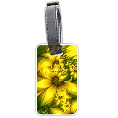 Beautiful Yellow Green Meadow Of Daffodil Flowers Luggage Tags (one Side)  by jayaprime
