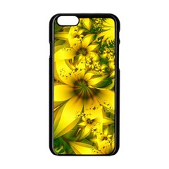 Beautiful Yellow Green Meadow Of Daffodil Flowers Apple Iphone 6/6s Black Enamel Case by jayaprime