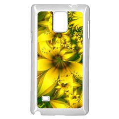 Beautiful Yellow Green Meadow Of Daffodil Flowers Samsung Galaxy Note 4 Case (white) by jayaprime