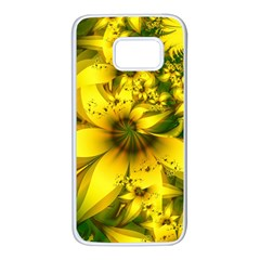 Beautiful Yellow-green Meadow Of Daffodil Flowers Samsung Galaxy S7 White Seamless Case by jayaprime
