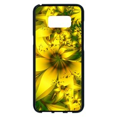 Beautiful Yellow Green Meadow Of Daffodil Flowers Samsung Galaxy S8 Plus Black Seamless Case by jayaprime