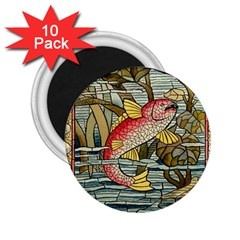 Fish Underwater Cubism Mosaic 2 25  Magnets (10 Pack)  by Celenk