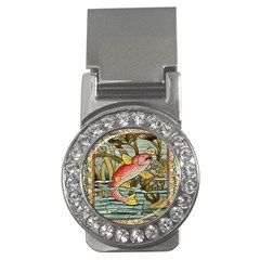 Fish Underwater Cubism Mosaic Money Clips (cz)  by Celenk