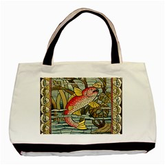 Fish Underwater Cubism Mosaic Basic Tote Bag by Celenk