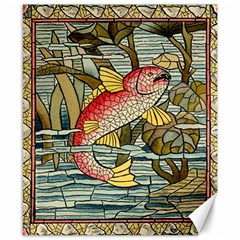 Fish Underwater Cubism Mosaic Canvas 8  X 10  by Celenk