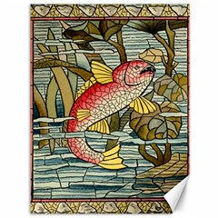 Fish Underwater Cubism Mosaic Canvas 36  X 48   by Celenk