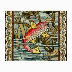 Fish Underwater Cubism Mosaic Small Glasses Cloth (2 Side) by Celenk