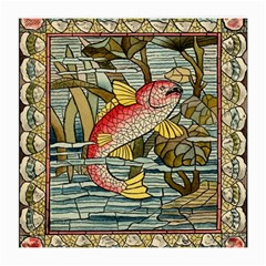 Fish Underwater Cubism Mosaic Medium Glasses Cloth (2 Side) by Celenk