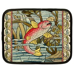 Fish Underwater Cubism Mosaic Netbook Case (large) by Celenk