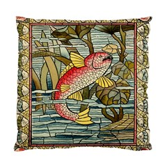 Fish Underwater Cubism Mosaic Standard Cushion Case (two Sides) by Celenk