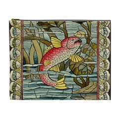Fish Underwater Cubism Mosaic Cosmetic Bag (xl) by Celenk
