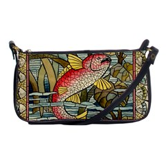 Fish Underwater Cubism Mosaic Shoulder Clutch Bags by Celenk