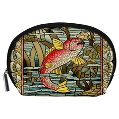 Fish Underwater Cubism Mosaic Accessory Pouches (large)