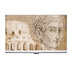Colosseum Rome Caesar Background Business Card Holders by Celenk