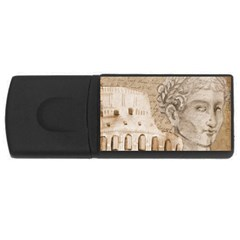Colosseum Rome Caesar Background Rectangular Usb Flash Drive by Celenk