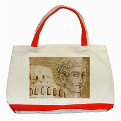 Colosseum Rome Caesar Background Classic Tote Bag (red) by Celenk