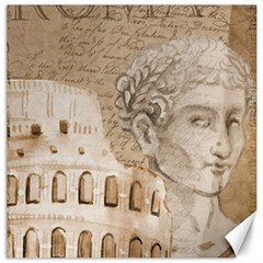 Colosseum Rome Caesar Background Canvas 12  X 12   by Celenk