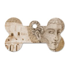 Colosseum Rome Caesar Background Dog Tag Bone (two Sides) by Celenk