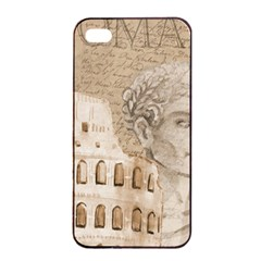 Colosseum Rome Caesar Background Apple Iphone 4/4s Seamless Case (black)