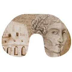 Colosseum Rome Caesar Background Travel Neck Pillows by Celenk