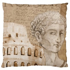 Colosseum Rome Caesar Background Large Flano Cushion Case (two Sides) by Celenk