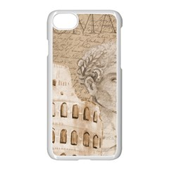 Colosseum Rome Caesar Background Apple Iphone 7 Seamless Case (white) by Celenk