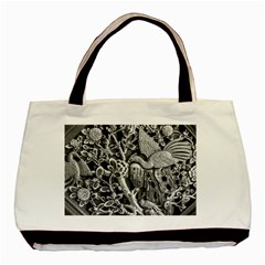 Black And White Pattern Texture Basic Tote Bag