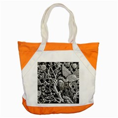 Black And White Pattern Texture Accent Tote Bag by Celenk