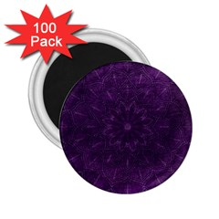 Background Purple Mandala Lilac 2 25  Magnets (100 Pack)  by Celenk