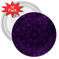 Background Purple Mandala Lilac 3  Buttons (10 Pack)