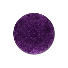 Background Purple Mandala Lilac Magnet 3  (round) by Celenk