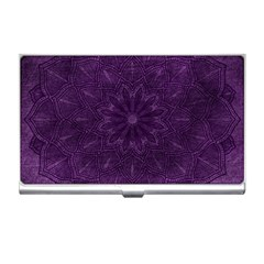 Background Purple Mandala Lilac Business Card Holders by Celenk