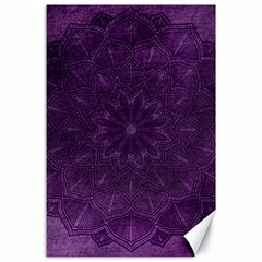 Background Purple Mandala Lilac Canvas 24  X 36  by Celenk