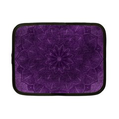 Background Purple Mandala Lilac Netbook Case (small)  by Celenk