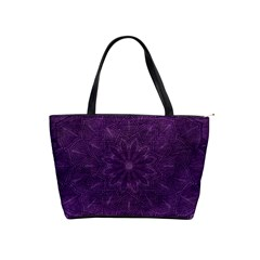 Background Purple Mandala Lilac Shoulder Handbags
