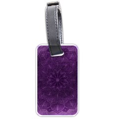 Background Purple Mandala Lilac Luggage Tags (two Sides) by Celenk