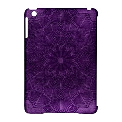 Background Purple Mandala Lilac Apple Ipad Mini Hardshell Case (compatible With Smart Cover) by Celenk